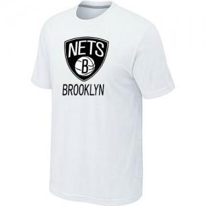 Brooklyn Nets Big & Tall Blanc T-Shirts d'équipe de NBA Soldes discount - pour Homme