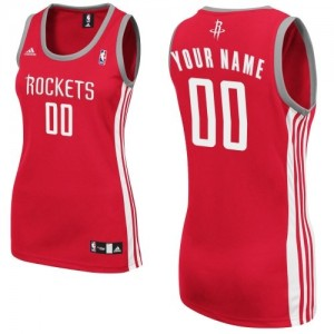 Maillot NBA Houston Rockets Personnalisé Swingman Rouge Adidas Road - Femme