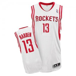 Maillot NBA Authentic James Harden #13 Houston Rockets Home Blanc - Femme