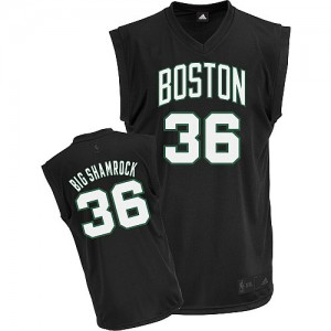 Maillot NBA Authentic Shaquille O'Neal #36 Boston Celtics Big Shamrock Noir - Homme