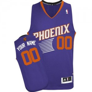 Maillot NBA Phoenix Suns Personnalisé Authentic Violet Adidas Road - Enfants