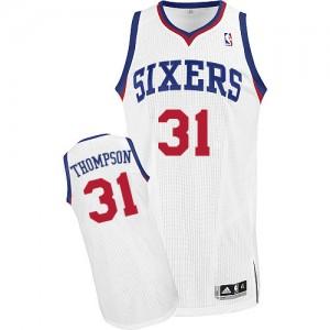 Maillot Adidas Blanc Home Authentic Philadelphia 76ers - Hollis Thompson #31 - Homme