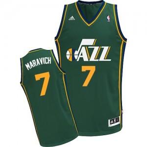 Utah Jazz Pete Maravich #7 Alternate Swingman Maillot d'équipe de NBA - Vert pour Homme
