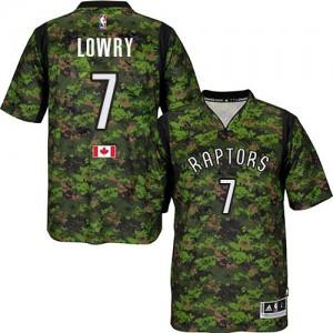 Toronto Raptors Kyle Lowry #7 Pride Authentic Maillot d'équipe de NBA - Camo pour Homme