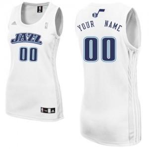 Maillot NBA Blanc Swingman Personnalisé Utah Jazz Home Femme Adidas
