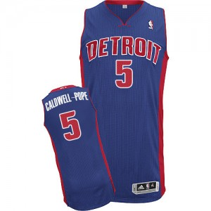 Maillot NBA Bleu royal Kentavious Caldwell-Pope #5 Detroit Pistons Road Authentic Homme Adidas