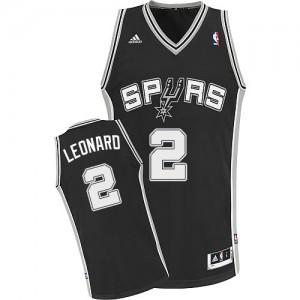 San Antonio Spurs Kawhi Leonard #2 Road Swingman Maillot d'équipe de NBA - Noir pour Enfants