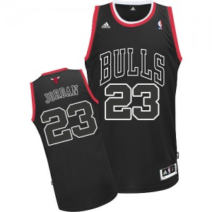 Maillot Adidas Noir Shadow Authentic Chicago Bulls - Michael Jordan #23 - Homme