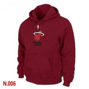 Sweat à capuche NBA Miami Heat Rouge - Homme