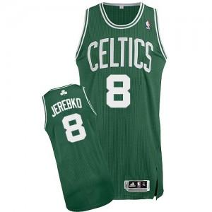 Maillot NBA Boston Celtics #8 Jonas Jerebko Vert (No Blanc) Adidas Authentic Road - Homme