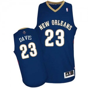 Maillot Adidas Bleu marin Road Authentic New Orleans Pelicans - Anthony Davis #23 - Homme