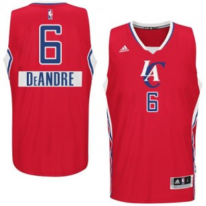 Maillot NBA Los Angeles Clippers #6 DeAndre Jordan Rouge Adidas Authentic 2014-15 Christmas Day - Homme
