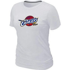 T-shirt principal de logo Cleveland Cavaliers NBA Big & Tall Blanc - Femme