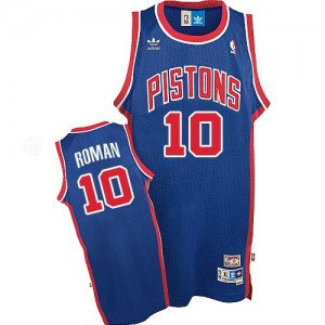 Maillot NBA Bleu Dennis Rodman #10 Detroit Pistons Throwback Authentic Homme Adidas