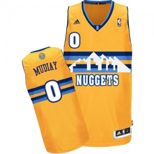 Maillot NBA Authentic Emmanuel Mudiay #0 Denver Nuggets Alternate Or - Homme
