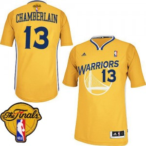 Maillot Swingman Golden State Warriors NBA Alternate 2015 The Finals Patch Or - #13 Wilt Chamberlain - Homme
