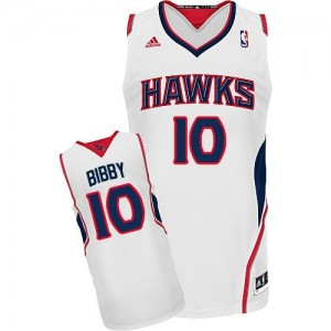 Maillot Swingman Atlanta Hawks NBA Home Blanc - #10 Mike Bibby - Homme