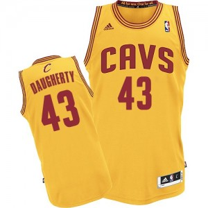 Cleveland Cavaliers #43 Adidas Alternate Or Authentic Maillot d'équipe de NBA sortie magasin - Brad Daugherty pour Homme