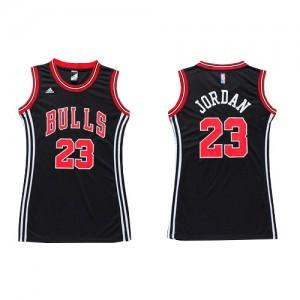 Maillot NBA Chicago Bulls #23 Michael Jordan Noir Adidas Authentic Dress - Femme