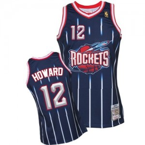 Maillot Mitchell and Ness Bleu marin Hardwood Classic Fashion Authentic Houston Rockets - Dwight Howard #12 - Homme