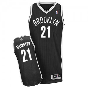 Maillot Adidas Noir Road Authentic Brooklyn Nets - Wayne Ellington #21 - Homme