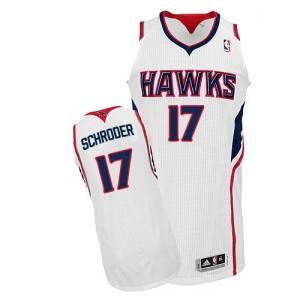 Atlanta Hawks #17 Adidas Home Blanc Authentic Maillot d'équipe de NBA Discount - Dennis Schroder pour Homme