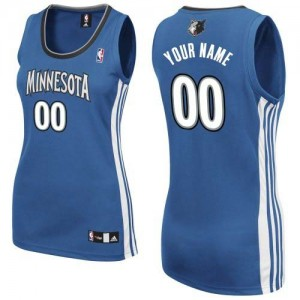 Maillot Adidas Slate Blue Road Minnesota Timberwolves - Authentic Personnalisé - Femme