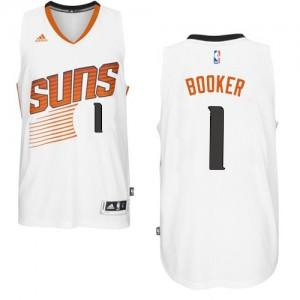 Maillot NBA Phoenix Suns #1 Devin Booker Blanc Adidas Swingman Home - Homme