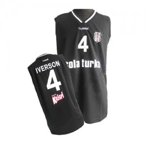 Philadelphia 76ers #4 Adidas Noir Authentic Maillot d'équipe de NBA Vente pas cher - Allen Iverson pour Homme