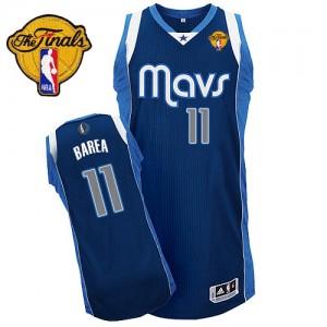 Maillot Authentic Dallas Mavericks NBA Alternate Finals Patch Bleu marin - #11 Jose Barea - Homme