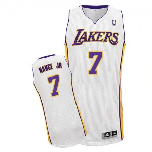 Maillot NBA Authentic Larry Nance Jr. #7 Los Angeles Lakers Alternate Blanc - Homme