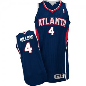 Maillot Authentic Atlanta Hawks NBA Road Bleu marin - #4 Paul Millsap - Homme