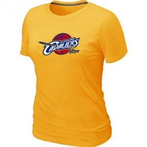 T-shirt principal de logo Cleveland Cavaliers NBA Big & Tall Jaune - Femme