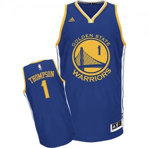 Maillot NBA Golden State Warriors #1 Jason Thompson Bleu royal Adidas Swingman Road - Homme