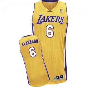 Maillot Authentic Los Angeles Lakers NBA Home Or - #6 Jordan Clarkson - Homme