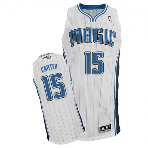 Maillot NBA Authentic Vince Carter #15 Orlando Magic Home Blanc - Homme