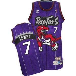 Toronto Raptors Kyle Lowry #7 Throwback Authentic Maillot d'équipe de NBA - Violet pour Enfants