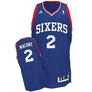 Philadelphia 76ers Moses Malone #2 Alternate Swingman Maillot d'équipe de NBA - Bleu royal pour Homme
