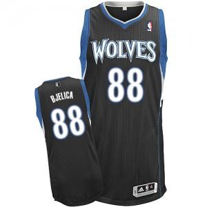 Minnesota Timberwolves #88 Adidas Alternate Noir Authentic Maillot d'équipe de NBA en vente en ligne - Nemanja Bjelica pour Homme