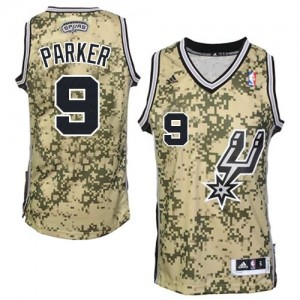 San Antonio Spurs Tony Parker #9 Authentic Maillot d'équipe de NBA - Camo pour Homme