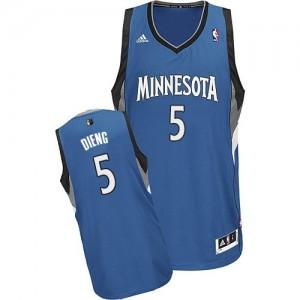 Maillot Adidas Slate Blue Road Swingman Minnesota Timberwolves - Gorgui Dieng #5 - Homme