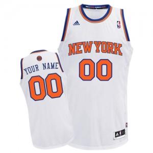 New York Knicks Swingman Personnalisé Home Maillot d'équipe de NBA - Blanc pour Homme