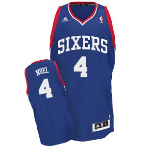 Maillot NBA Swingman Nerlens Noel #4 Philadelphia 76ers Alternate Bleu royal - Homme