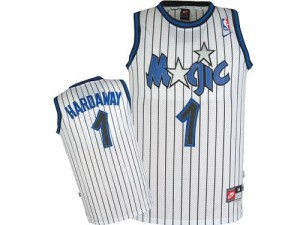Maillot NBA Orlando Magic #1 Penny Hardaway Blanc Adidas Authentic Throwback - Homme