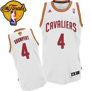 Maillot Swingman Cleveland Cavaliers NBA Home 2015 The Finals Patch Blanc - #4 Iman Shumpert - Homme