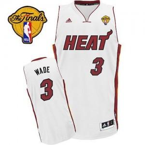 Maillot NBA Miami Heat #3 Dwyane Wade Blanc Adidas Swingman Home Finals Patch - Enfants