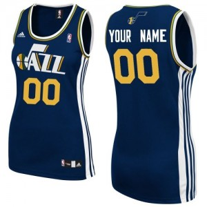 Maillot NBA Utah Jazz Personnalisé Swingman Bleu marin Adidas Road - Femme