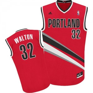 Maillot Swingman Portland Trail Blazers NBA Alternate Rouge - #32 Bill Walton - Homme