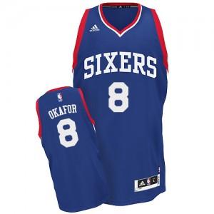 Maillot Adidas Bleu royal Alternate Swingman Philadelphia 76ers - Jahlil Okafor #8 - Homme