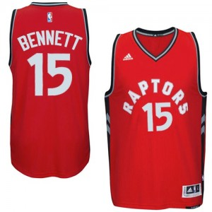 Maillot Authentic Toronto Raptors NBA climacool Rouge - #15 Anthony Bennett - Homme